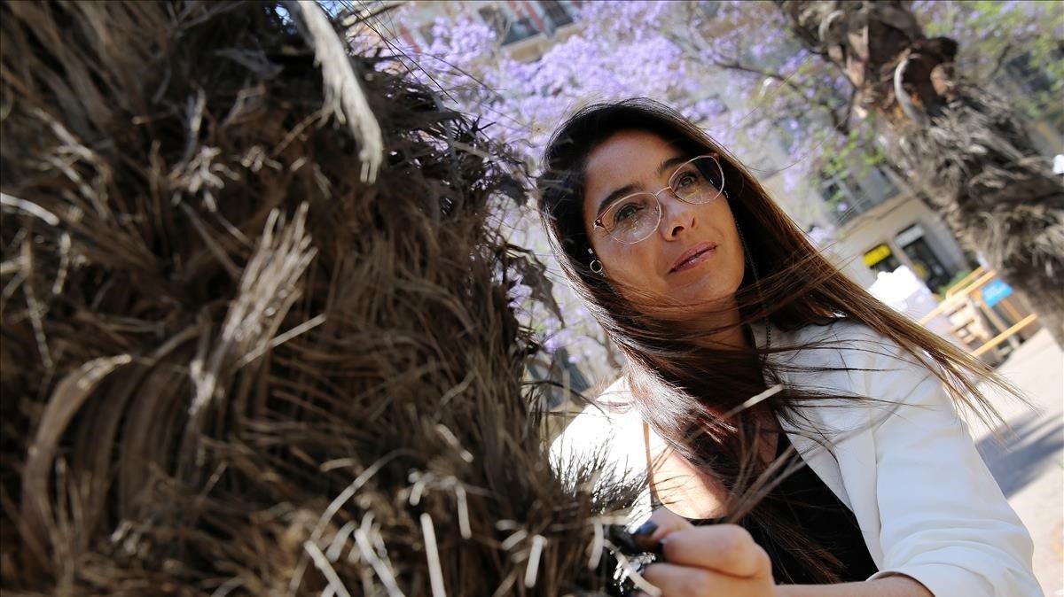 La argentina Florencia Etcheves, en Barcelona, donde ha presentado 'Errantes'.
