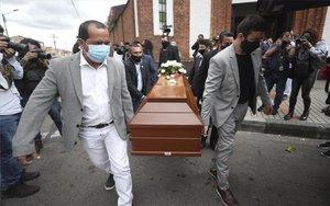 Entierro deJavier Ordóñez, víctima de brutalidad policial en Colombia.