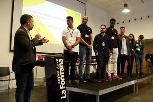 El concejal de Acción Social de Sabadell, Gabriel Fernàndez, clausura el acto de presentación de la UJEC.