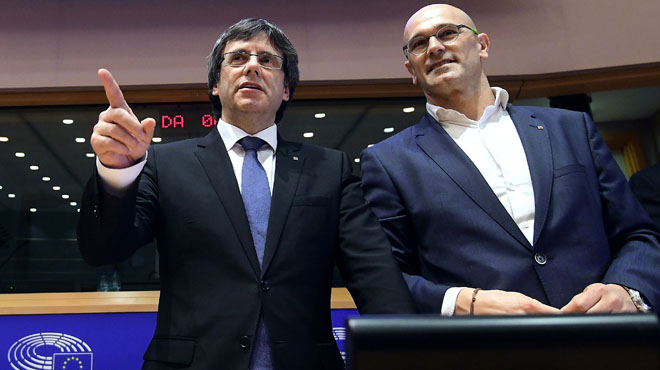 Conferencia del Govern catalán en la Eurocámara.