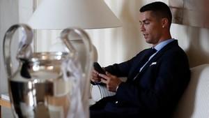 Cristiano Ronaldo, tras ganar la Champions 2018.