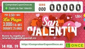ONCE: Sorteo de San Valentín del viernes 14 de febrero del 2020