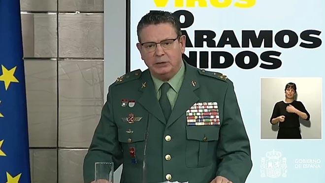 Dimite el número dos de la Guardia Civil, Laurentino Ceña, tras la destitución de Pérez de los Cobos.