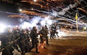 Enfrentamientos con la Policía de Portland, Estados Unidos.