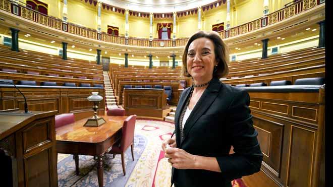 Entrevista conCuca Gamarra, portavoz del grupo parlamentario del PP, en el Congreso.