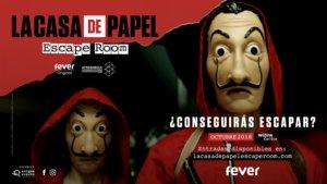 Imagen promocional del escape room de La casa de papel.