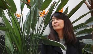 La escritora coreana Han Kang, en su última visita a Barcelona.