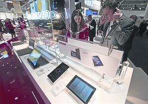 Estand de Lenovo en el Mobile World Congress.