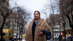 Esther Morales, hermana de Evo Morales, en una imagen del 2012, en Barcelona.