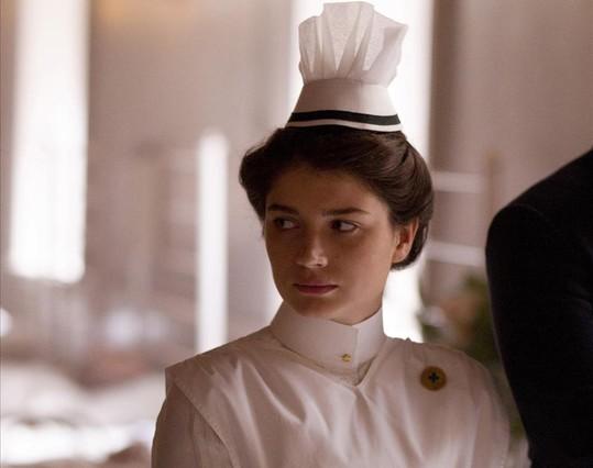 LA joven actriz irlandesa Eve Hewson, en el papel de la enfermera Lucy Elkins, en la serie The Knick.