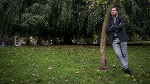 El 'exconseller' Toni Comín, en Lovaina.
