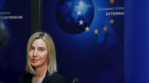 Federica Mogherini, el lunes 26 de octubre.
