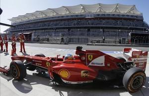El piloto español Fernando Alonso, en el circuito de Austin.