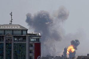 Los ataques aéreos en la Franja de Gaza.