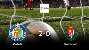 El Getafesuma tres puntos más ante el Real Valladolid (2-0)
