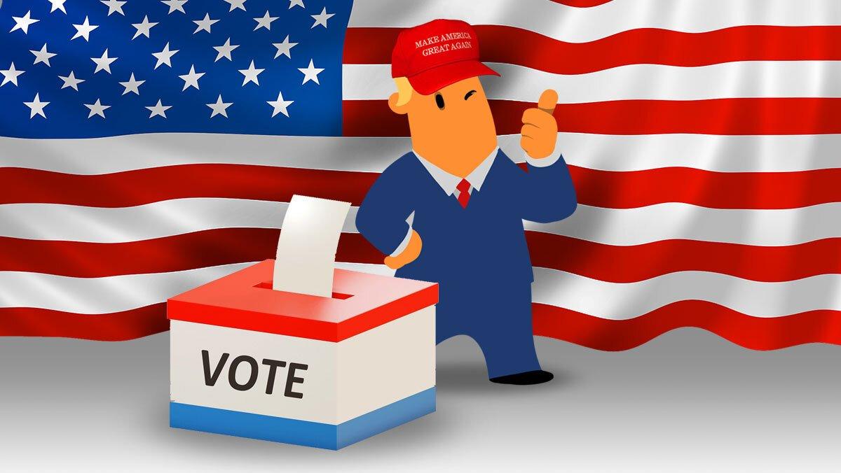 Ilustración de Donald Trump, que el 3 de noviembre se juega la reelección como presidente de EEUU.