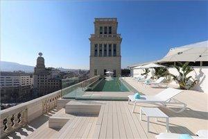 Terraza del hotel que el grupo Iberostar tiene en elPaseo de Gracia, de Barcelona.