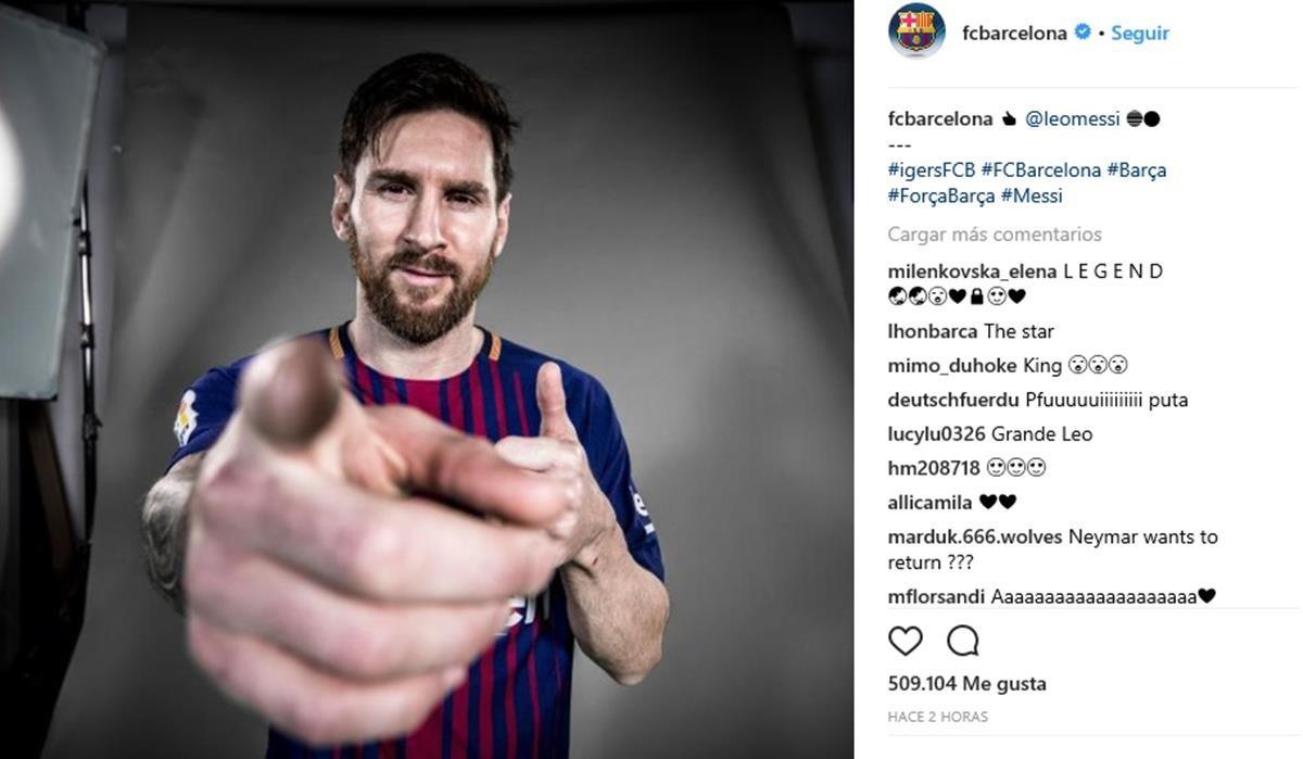 """Una foto de Messi a lo Julio Iglesias: """"Soy el mejor y lo sabes"""""""