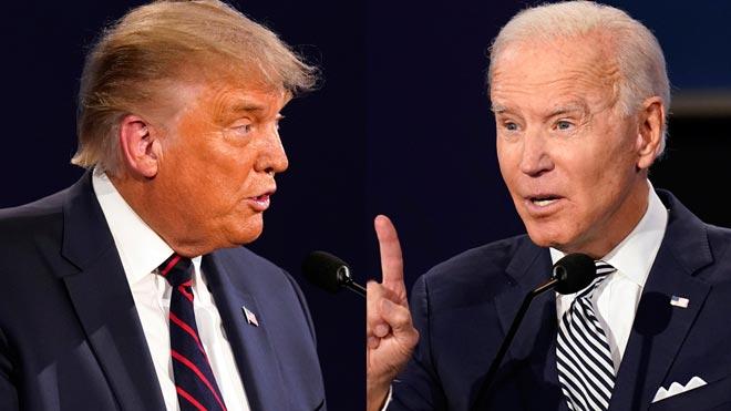 Intercambio de golpes y debate caótico entre Trump y Biden.