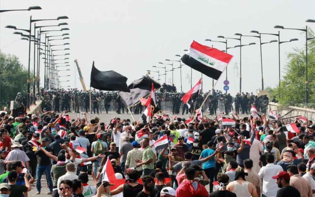 Protestas sociales en Irak.