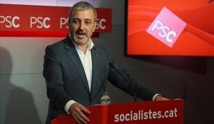 Jaume Collboni durante una rueda de prensa.