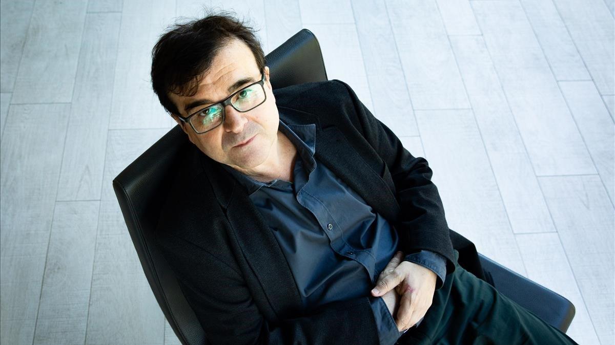 Javier Cercas, este miércoles en Barcelona.