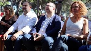 """Iceta pide al independentismo """"menos romerías en Waterloo y más Parlament"""""""