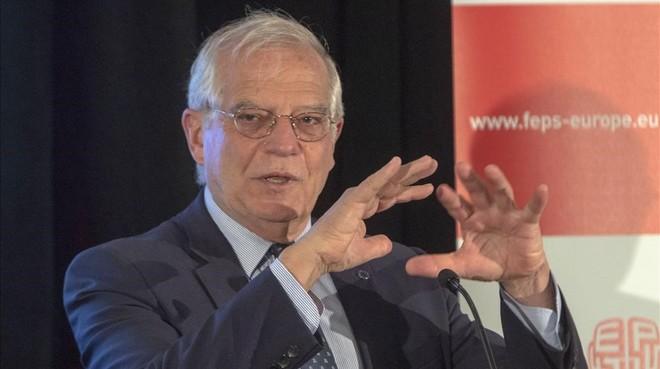 Josep Borrell en Nueva York.