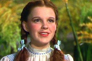 Judy Garland, durante el rodaje de 'El mago de Oz'.