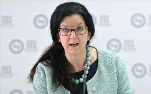 Kimberly Breier, durante una conferencia.