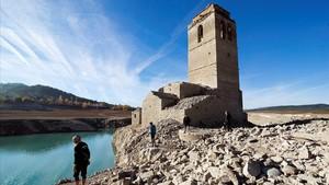 Pantano de Mediano, en el Pirineo de Huesca.