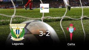 El Leganés se queda con la victoria frente al Celta (3-2)