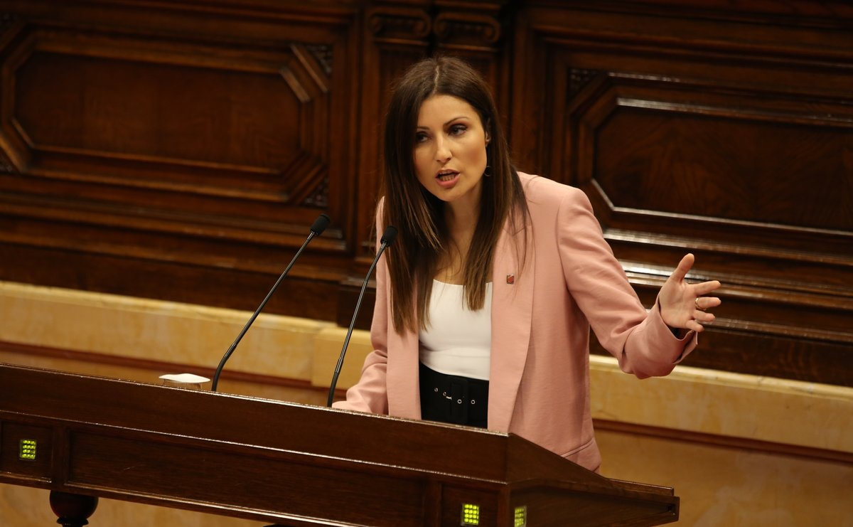 La líder de Cs en Catalunya, Lorena Roldán, el pasado octubre, en un pleno del Parlament.