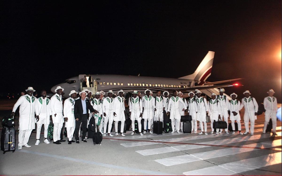 La selección de Nigeria, al completo.