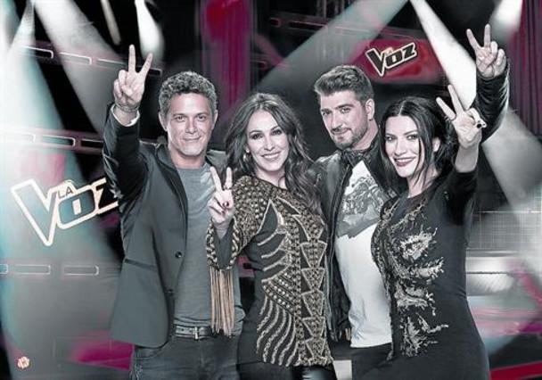 Alejandro Sanz, Malú, Antonio Orozco y Laura Pausini, los 'coaches' de 'La voz'.