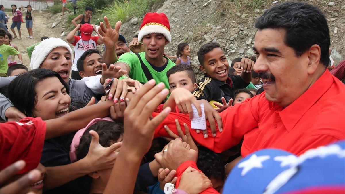 El presidente de Venezuela, Nicolás Maduro en un acto público.