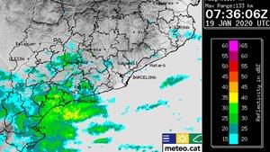 Mapa de lluvias de este domingo, 19 de enero, del Meteocat.