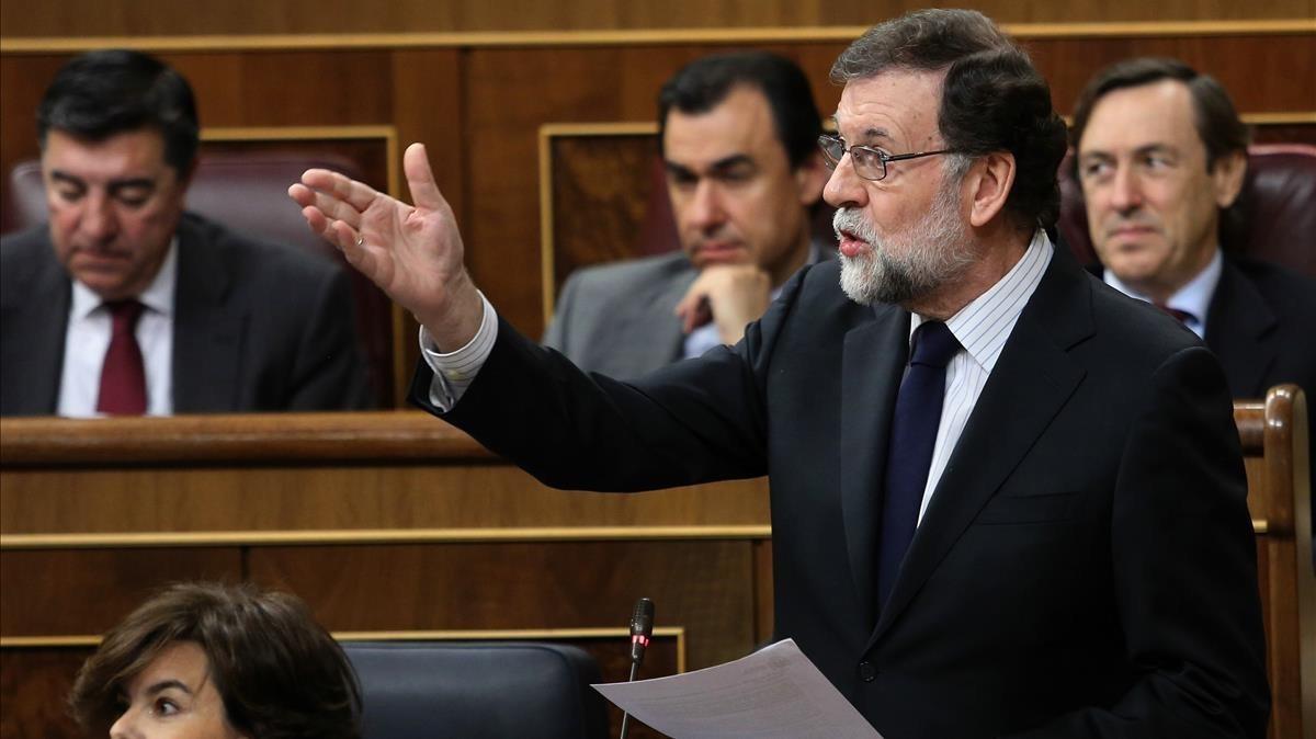 Mariano Rajoy, en un pleno en el Congreso de los Diputados.