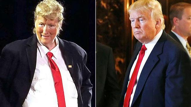 Meryl Streep es fica en la pell de Donald Trump. L'actriu parodia el milionari i candidat republicà en un teatre de Nova York.