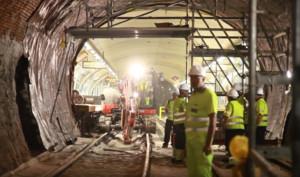 Obras en el Metro de Madrid.