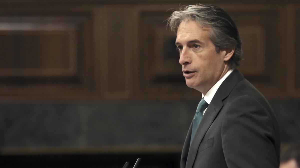 El exministro de Fomento , Ínigo de la Serna, en el Congreso.