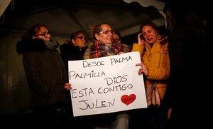 Muestras de apoyo a Julen y a su familia.