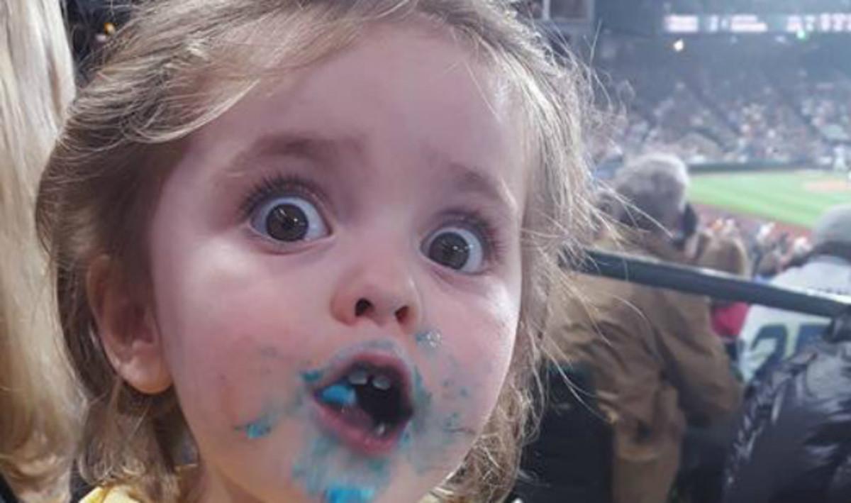 La reacción de la pequeña Beatrix en el partido de los Mariners de Seattle