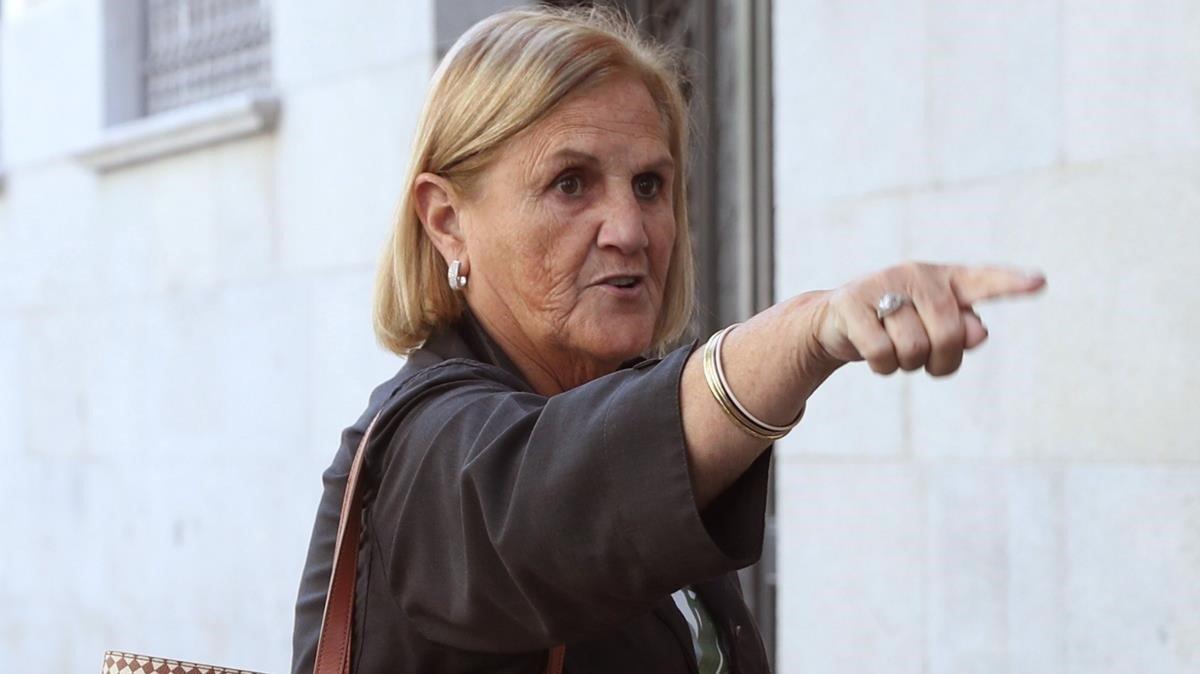 La expresidenta del Parlament Núria de Gispert.