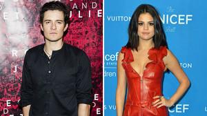 Orlando Bloom y Selena Gómez, juntos en actitud cariñosa