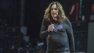 El rockero Ozzy Osbourne en un concierto en Barcelona.