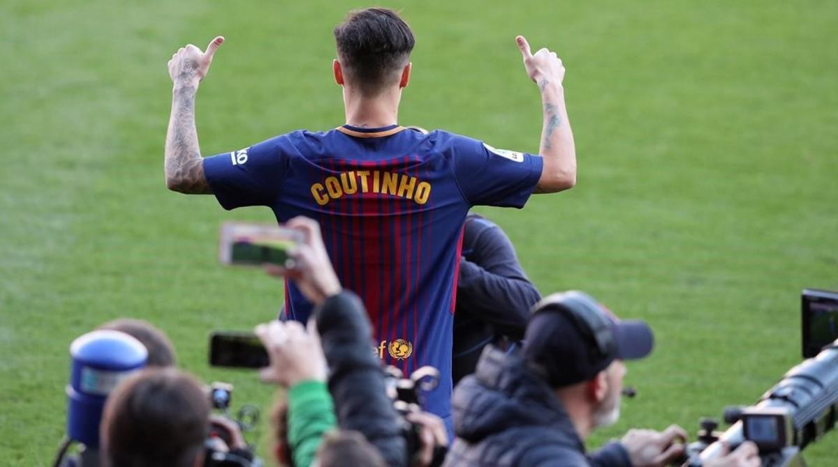 Philippe Coutinho, aún no tiene dorsal en el Barça.