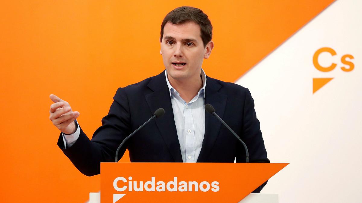 El presidente de Ciudadanos, Albert Rivera, condena la violencia de los CDR.