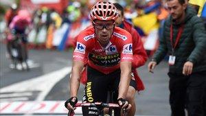 Primo Roglic, ganador de la pasada edición de la Vuelta.