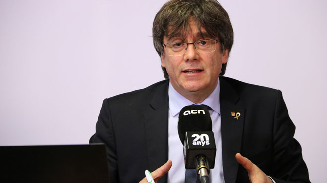 Puigdemont: No tengo interés en ser candidato a las elecciones al Parlament. Querría recuperar la normalidad.